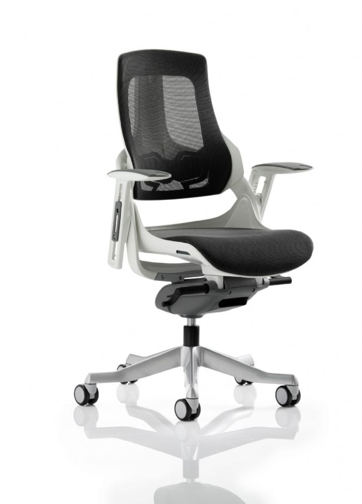 Zure Executive Task Chair Orthopaedic Designed Office Seat & Back in Black Mesh